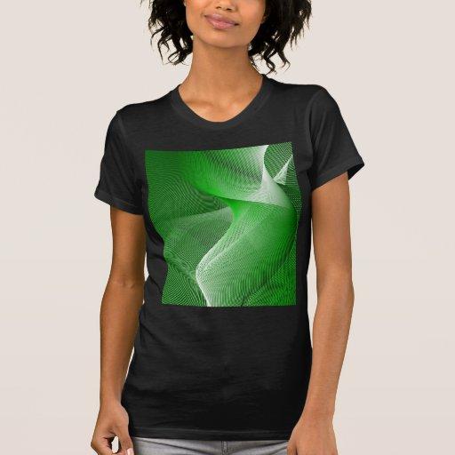 Verde abstracto remeras