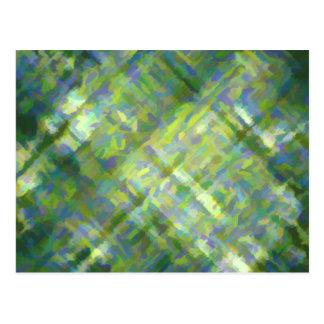 Verde abstracto postales