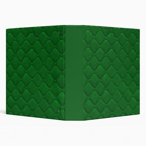 "Verde acolchado de la mirada carpeta 1 1/2"""