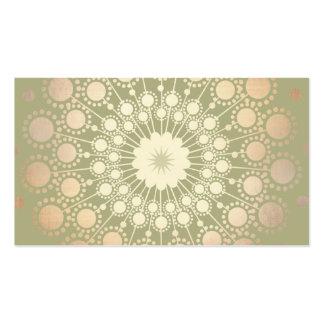 Verde adornado del adorno del círculo del oro tarjetas personales