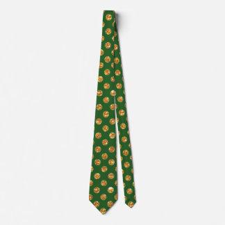 Verde afortunado con el lazo de los pedazos del corbata
