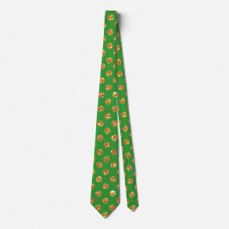 Verde afortunado con el lazo de los pedazos del corbatas personalizadas