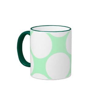 verde agua y grandes lunares blancos, Taza