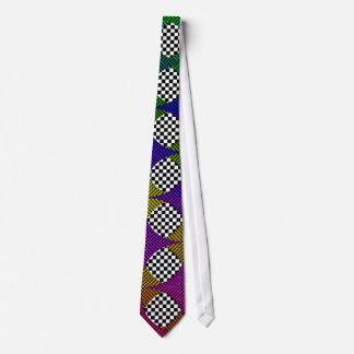 Verde al arco iris violeta de Kenneth Yoncich Corbatas Personalizadas