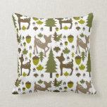 Verde + Almohada de los ciervos de Brown