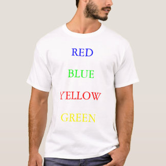 Verde amarillo azul rojo playera