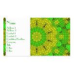 Verde/amarillo de cristal del mosaico del efecto tarjetas de visita