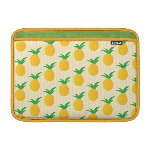 Verde amarillo del modelo de la piña fundas para macbook air
