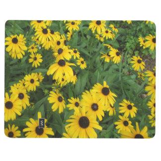 Verde amarillo observado negro de Susans Cuaderno Grapado