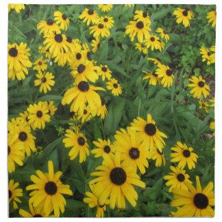 Verde amarillo observado negro de Susans Servilletas Imprimidas