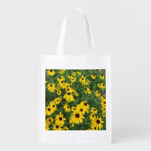 Verde amarillo observado negro de Susans Bolsas Para La Compra