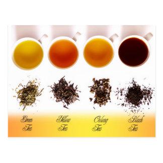 Verde amarillo Oolong y té negro