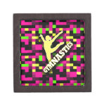 Verde amarillo rosado de la gimnasia caja de recuerdo de calidad