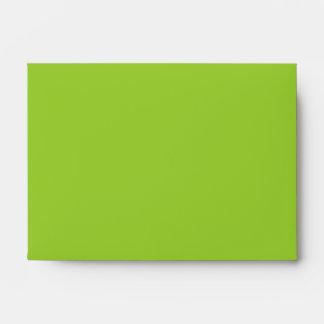 Verde amarillo tradicional de envío sobres