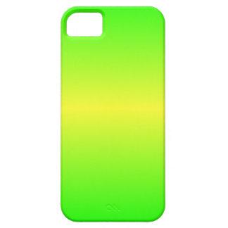 Verde amarillo y eléctrico eléctrico horizontal iPhone 5 cárcasas