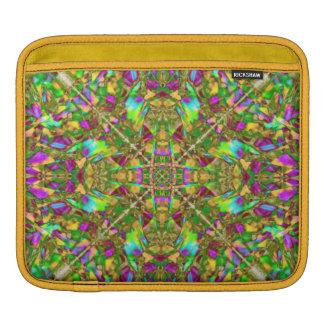 Verde amarillo y modelo rosado de la mandala funda para iPads