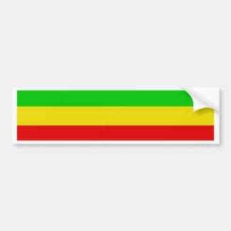 Verde, amarillo, y rojo pegatina de parachoque