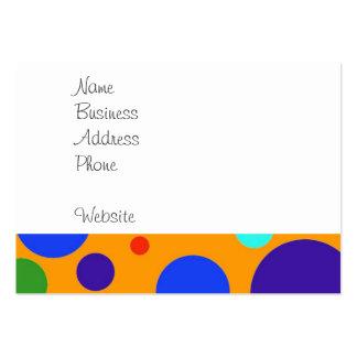 Verde anaranjado azul de los lunares grandes color plantilla de tarjeta de negocio