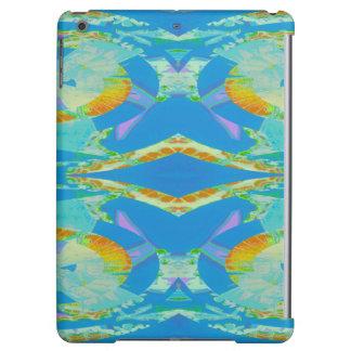 Verde anaranjado azul del arte abstracto