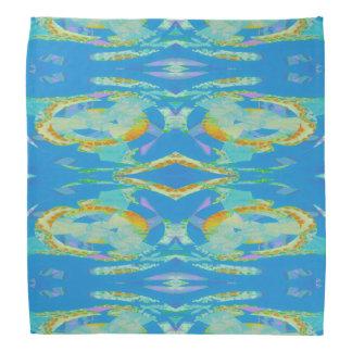 Verde anaranjado azul del arte abstracto bandanas