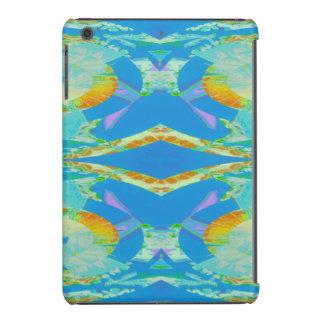 Verde anaranjado azul del arte abstracto carcasa para iPad mini retina