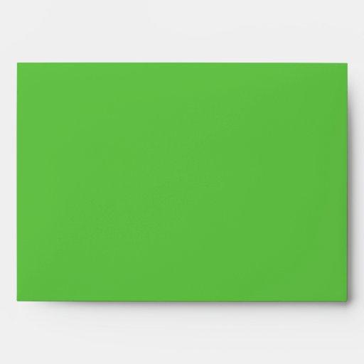 Verde anaranjado del sobre de las magdalenas
