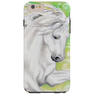 Verde andaluz del caballo funda de iPhone 6 plus tough