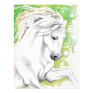 Verde andaluz del caballo membrete