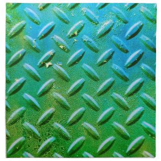 Verde apenado acero del Grunge de la placa del dia Servilletas Imprimidas