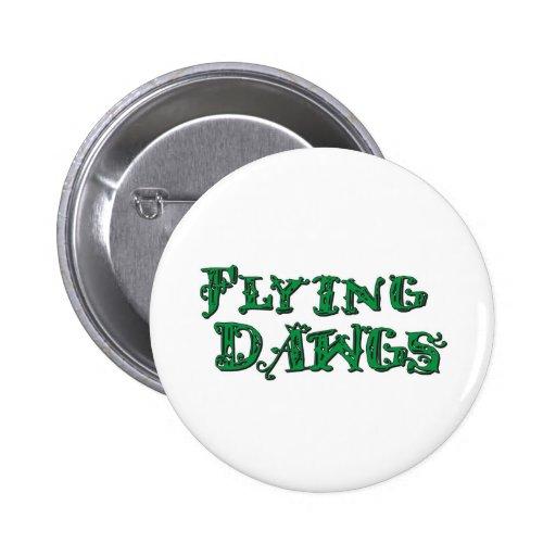 Verde apilado Dawgs del logotipo del vuelo Pins