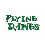 Verde apilado Dawgs del logotipo del vuelo Postal