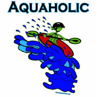 Verde azul de Aquaholic del Kayaker de Whitewater Imán Fotoescultura