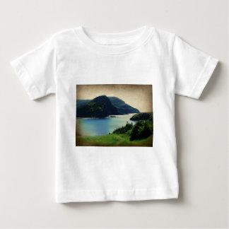 Verde azul de la costa de las montañas del puerto playera de bebé