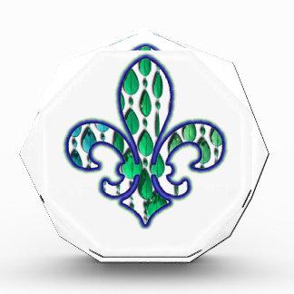 Verde azul de la joya de Flor New Orleans de la fl