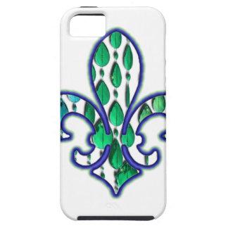 Verde azul de la joya de Flor New Orleans de la Funda Para iPhone 5 Tough