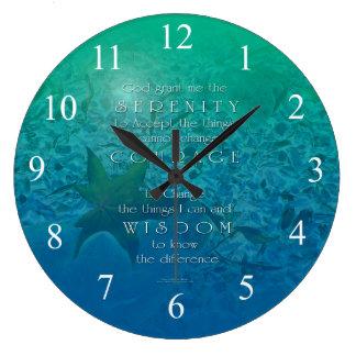 Verde azul de la sabiduría del valor de la serenid relojes de pared
