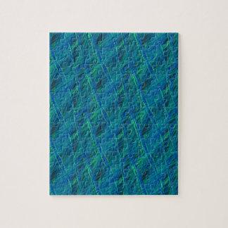 verde azul de los hilos coloridos puzzles con fotos