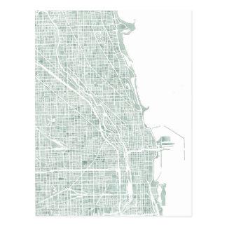 Verde azul de los seaglass del mapa de la acuarela