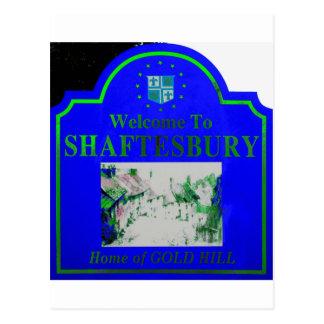 Verde azul de Shaftesbury Tarjeta Postal