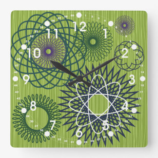 Verde azul del modelo geométrico del Spirograph Relojes