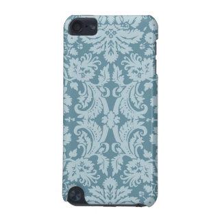 Verde azul del nouveau floral del arte del vintage