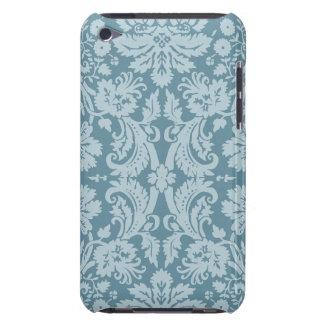 Verde azul del nouveau floral del arte del vintage barely there iPod funda