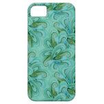 Verde azul del remolino de la aguamarina elegante  iPhone 5 Case-Mate protectores