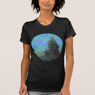 Verde azul del rezo de la serenidad t-shirt