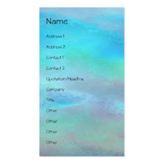 Verde azul del rezo de la serenidad plantilla de tarjeta personal