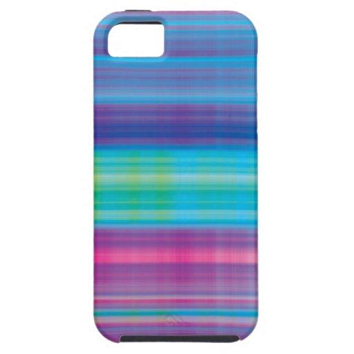 Verde azul del rosa de la tela escocesa de Digitac iPhone 5 Case-Mate Carcasa