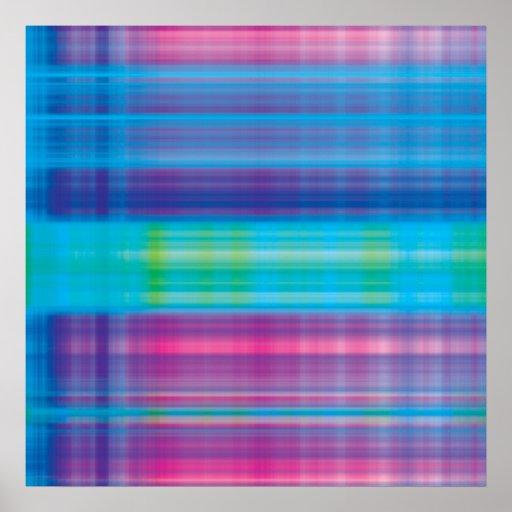 Verde azul del rosa de la tela escocesa de Digitac Poster