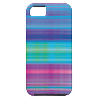 Verde azul del rosa de la tela escocesa de iPhone 5 funda
