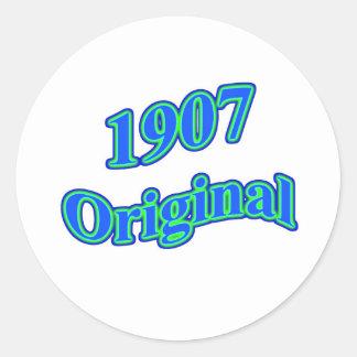 Verde azul original 1907 pegatinas redondas