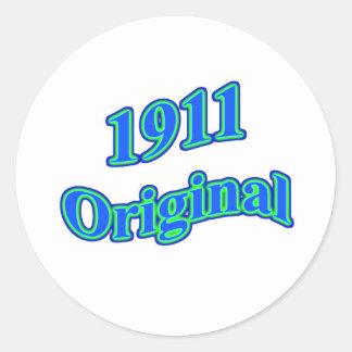 Verde azul original 1911 pegatinas redondas